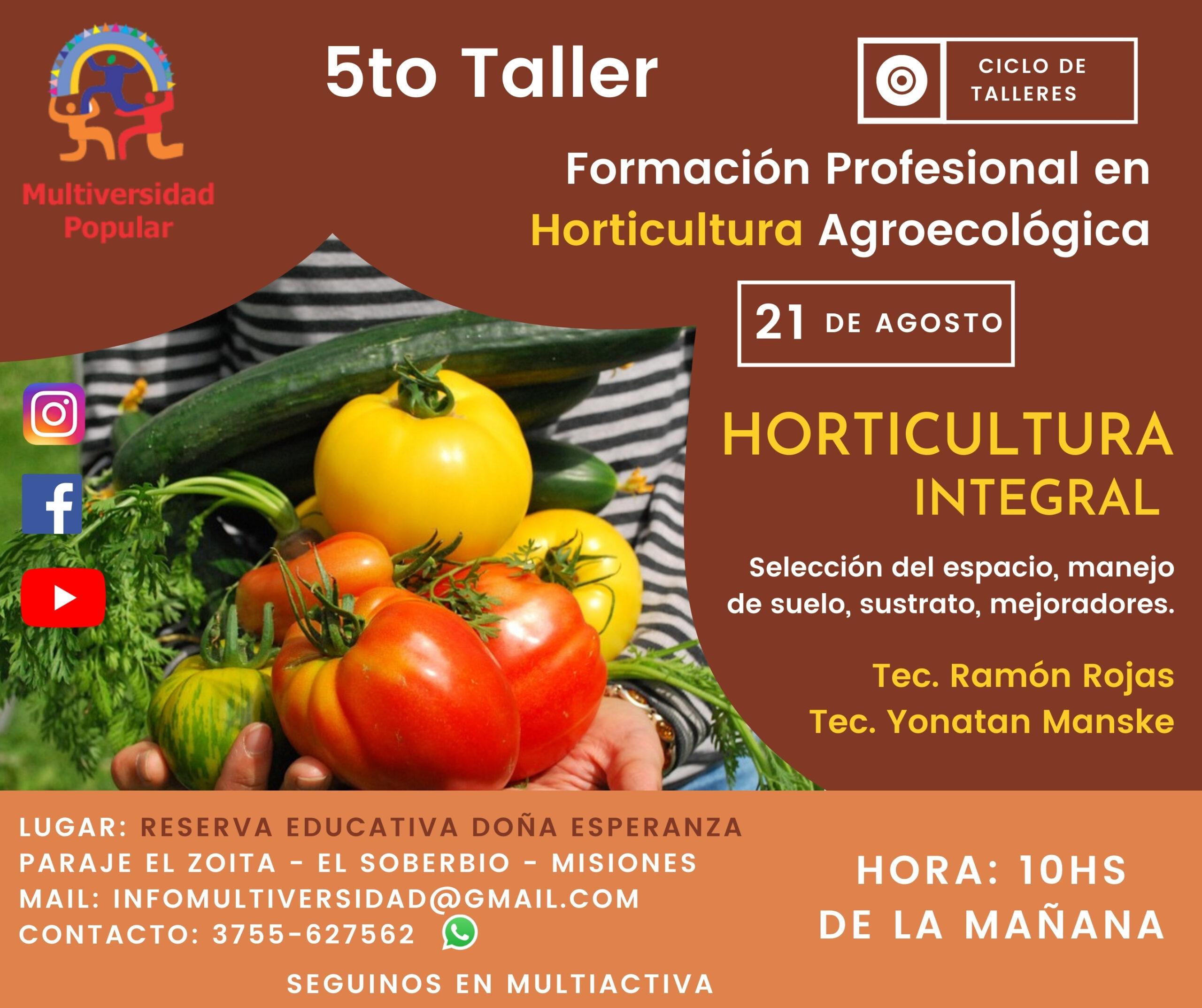 5to Taller – Horticultura Integral